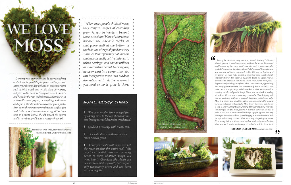 Artisan Moss in the news - Faerie Magazine