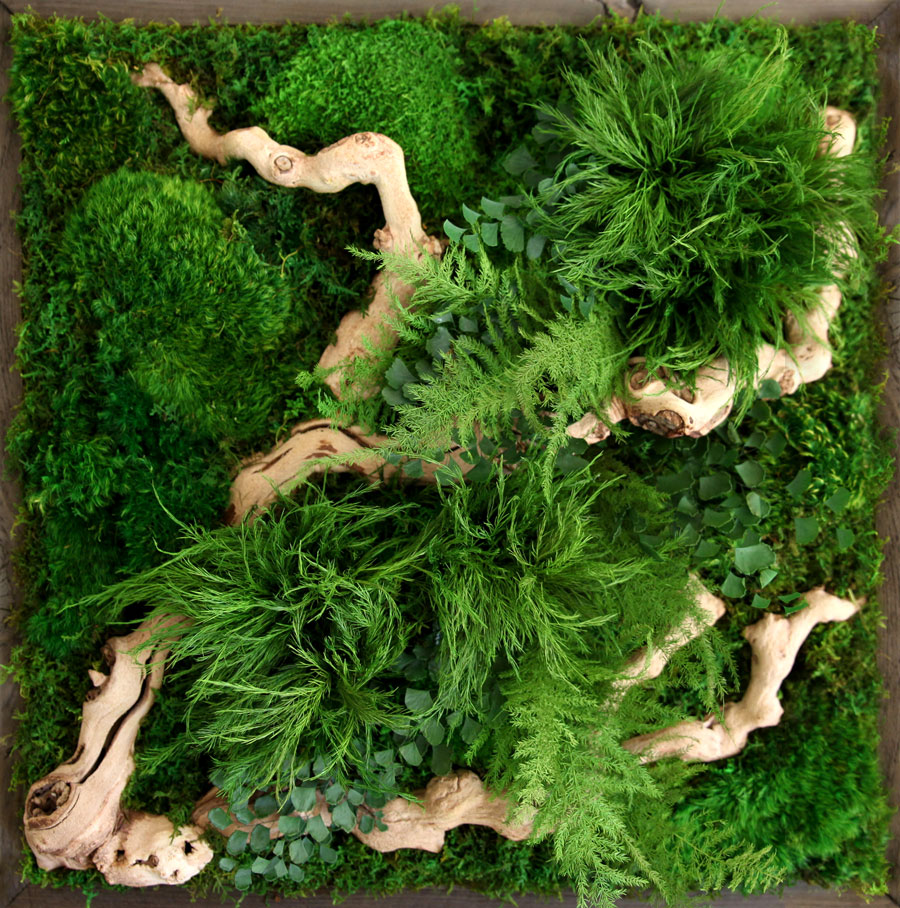 Artisan Moss wall art detail.