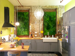 Artisan Moss green wall art for NYC apartment