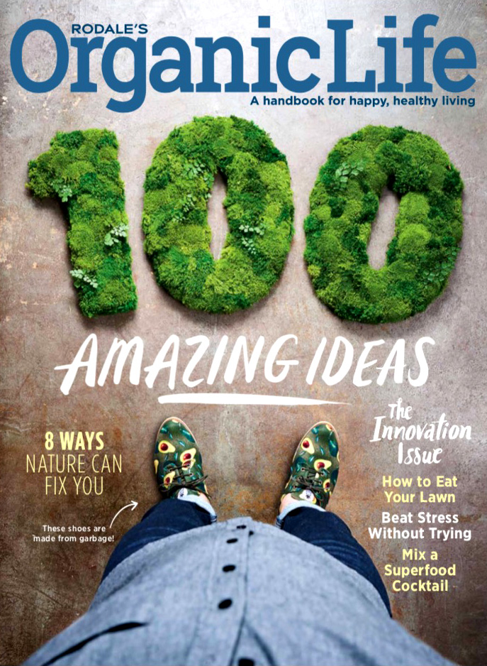 Artisan Moss on the cover of Organic Life Magazine