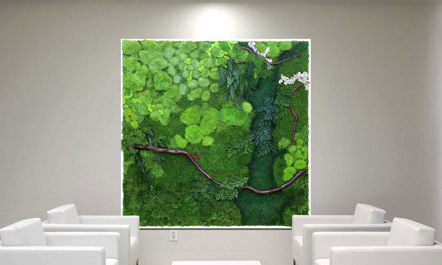 Superieur ... Wall Art Artisan Moss Plant Painting Of The Potomac River In The  Eisenhower Building.